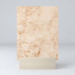 Pink Angelskin Coral Marble Natural Stone Veining Quartz Mini Art Print