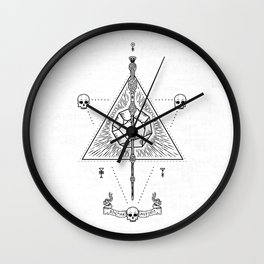 Deathly Hallows (White) Wall Clock
