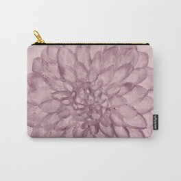 A Flower on pale dusty rose Carry-All Pouch