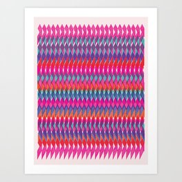 Shard Hand-Print Geometric - Bright Art Print