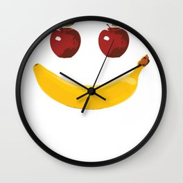 Smile Vegetable Design Wall Clock
