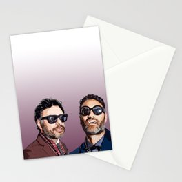 Jemaine and Taika 2 Stationery Cards