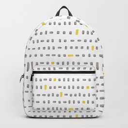 yellow and grey blocks Backpack