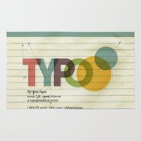 typo Area & Throw Rugs featuring typo by Vin Zzep
