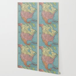 Vintage Map of North America (1903) Wallpaper