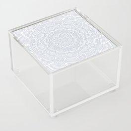 Light Gray Ethnic Eclectic Detailed Mandala Minimal Minimalistic Acrylic Box