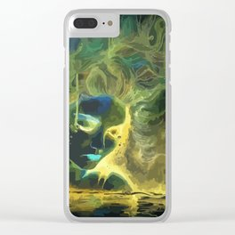 Mina like Medusa with gold,blue and green hair Clear iPhone Case