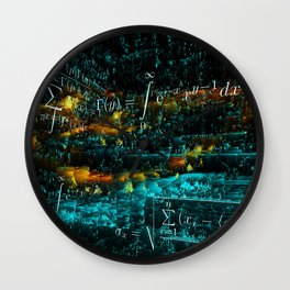 mathematical art Wall Clock