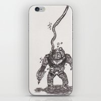 scuba iPhone & iPod Skins featuring Scuba by The A B Project