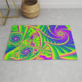 Dingle Berries Psychedelic Fractal Rug