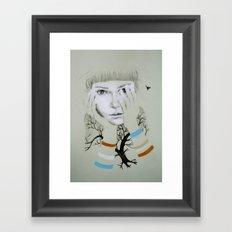 She, Tree Framed Art Print