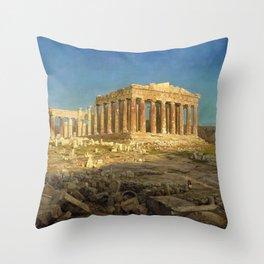 Frederic Edwin Church - The Parthenon - Digital Remastered Edition Throw Pillow