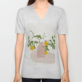 Lemon Branches Unisex V-Neck