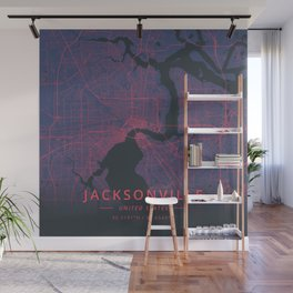 Jacksonville, United States - Neon Wall Mural