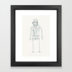 Wood, Meat, Fish and Facial hair Framed Art Print