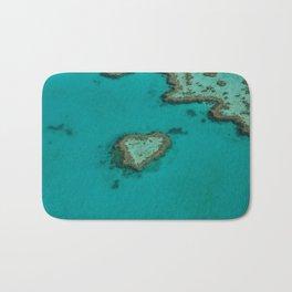 heart reef Bath Mat