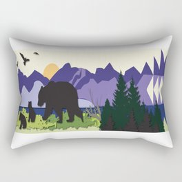 Morning Stroll Rectangular Pillow