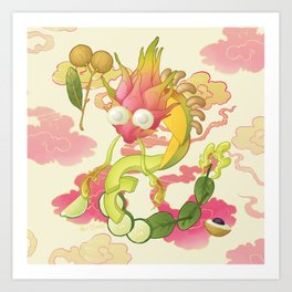 Dragon Fruit Art Print