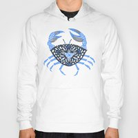 crab Hoodies featuring Blue Crab by Cat Coquillette