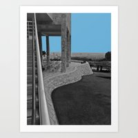 Curved Wall Art Print