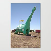 dino Canvas Prints featuring dino by Natalie Jeffcott