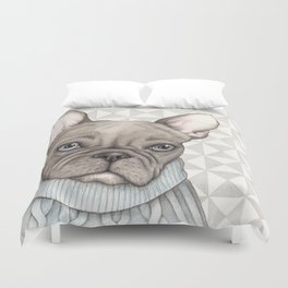 French style - French Bulldog Duvet Cover