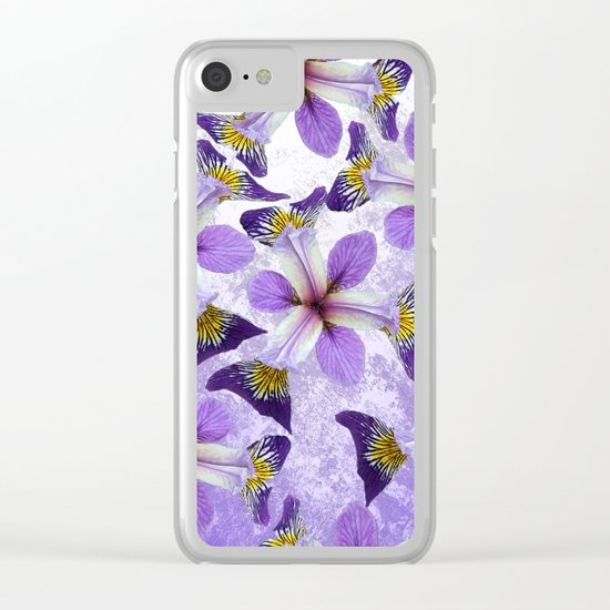 In the eye of the Iris Clear iPhone Case