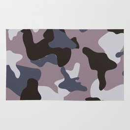 Gray army camo camouflage pattern Rug