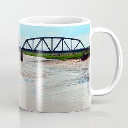 Low Tide at the Sackville Train Bridge Coffee Mug