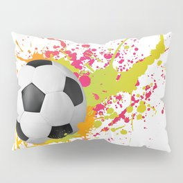 Football design with colorful splashes Pillow Sham