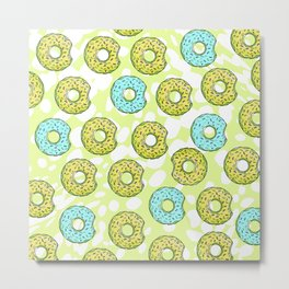 DONUTS AND DOTS DELICOUS DELIGHT Metal Print