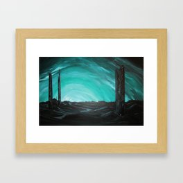 Grave Towers Framed Art Print
