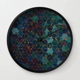Organic Chemistry - Blue and Copper Wall Clock