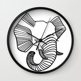 Zoobisak Elephant Wall Clock