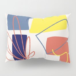 Color block abstract impressionist Pillow Sham