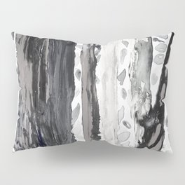 Rainbow Eucalyptus Graffiti artist tree from shedding bark South Pacific Black and White Night Pillow Sham
