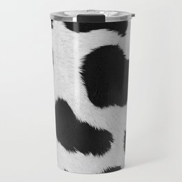 Black and white realistic cow fur texture Travel Mug