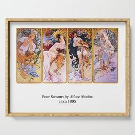 "Alfons Mucha, "" Four Seasons (1895)"" Serving Tray"