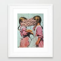 twins Framed Art Prints featuring Twins by David Delruelle