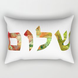 Colorful Jewish Art - Shalom 27 - Sharon Cummings Rectangular Pillow
