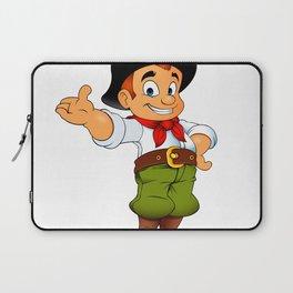 Gaucho cowboy cartoon Laptop Sleeve