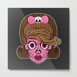 Sugar Skull Mama Metal Print
