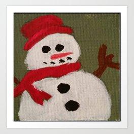 Snowman Cheer Art Print