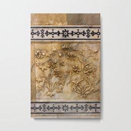 Wall Engravings Metal Print