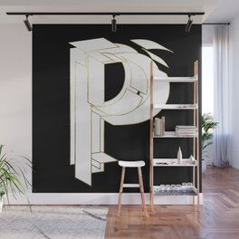Beautiful Armor Letter P Wall Mural