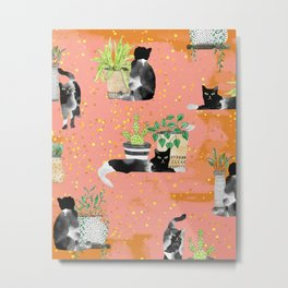 Cats & Plants #society6artprint ##cats #decor Metal Print