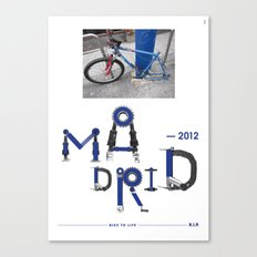 Bike to Life - Madrid Canvas Print