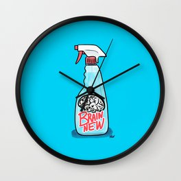 Society6 / Brain New Cleaner Wall Clock