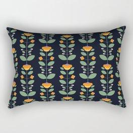 Bud'n Bloom (deep blue) Rectangular Pillow