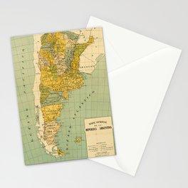 Vintage Map of Argentina (1910) Stationery Cards